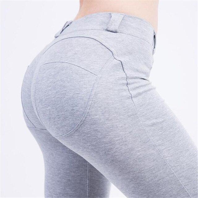 cotton Pure color Peach buttocks Hips Fast drying Ventilation leggings women leggins mujer fitness legging legins women pants