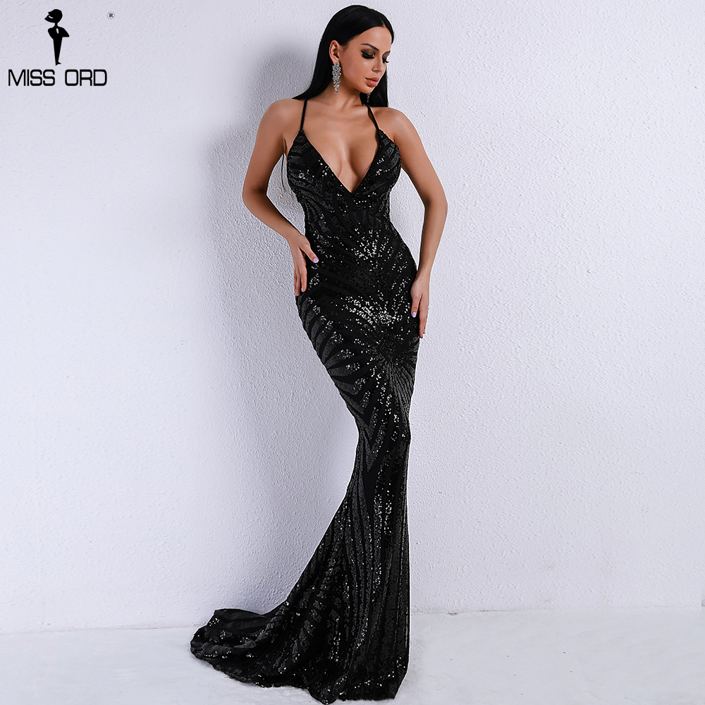 33b5e13d813e91 Long Sheer Vrouwen tijd Sexy. Beste Kopen Missord 2018 Sexy v hals Elegant  Gestreepte Backless Vrouwen Jurken Sequin Bodycon Maxi Party Dress Vestidos  ...