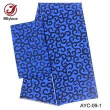 Fashionable digital printed satin design african wax pattern chiffon fabric 2 in 1 style 2 yards Chiffon+4 yards Satin AYC-09 sinful in satin
