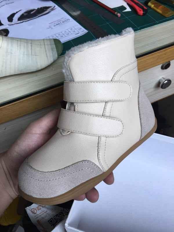 Модные гибкие детские ботинки для зимы; обувь для мальчиков; мягкая обувь для девочек