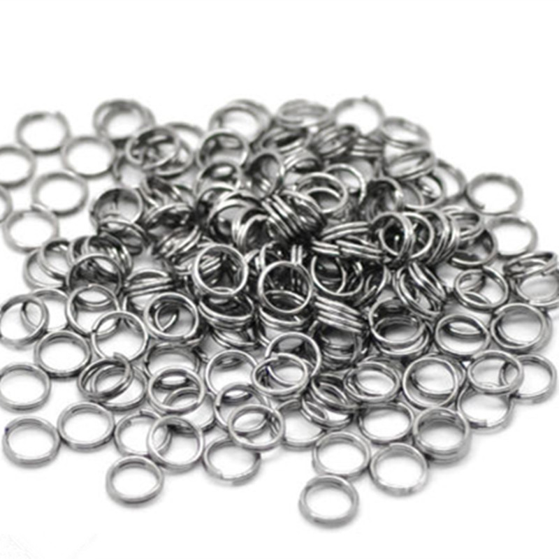 5000 Pcs Gunmetal liga duplas Loops dividir ir anéis descobertas jóias 6 x 0.6 mm