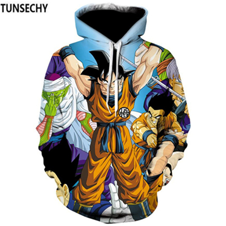 TUNSECHY Brand Dragon Ball 3D Hoodie Sweatshirts Men Women Hoodie Dragon Ball Z Anime Fashion Casual Tracksuits Boy Hooded 6