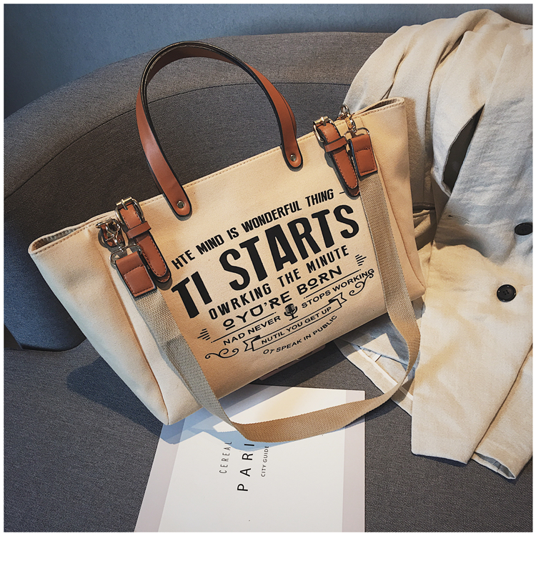 Luxury Ladies Bags Canvas Fashion Large Capacity Tote Bags Letter Shoulder Messenger Bags for Women 2018 Casual Tote Luis Vuiton 21