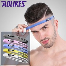 AOLIKES 1 Pcs Elastic Head Sweatband Soft Silicone Running Yoga Sweat Band For Men Women Fitness Basketball Tennis Headband(China)