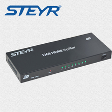 цена на STERY HDMI Splitter Full HD 1080p 4K*2K Video HDMI 1X8 Split 1 in 8 Out Dual Display For DVD PS3 Xbox Monitor HDTV