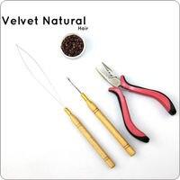 Ik Tip Hair Extensions Starter Kits Gebruik Voor Silicone Micro Ringen Kralen + Haak Naald + Loop Threader + Extensions tang