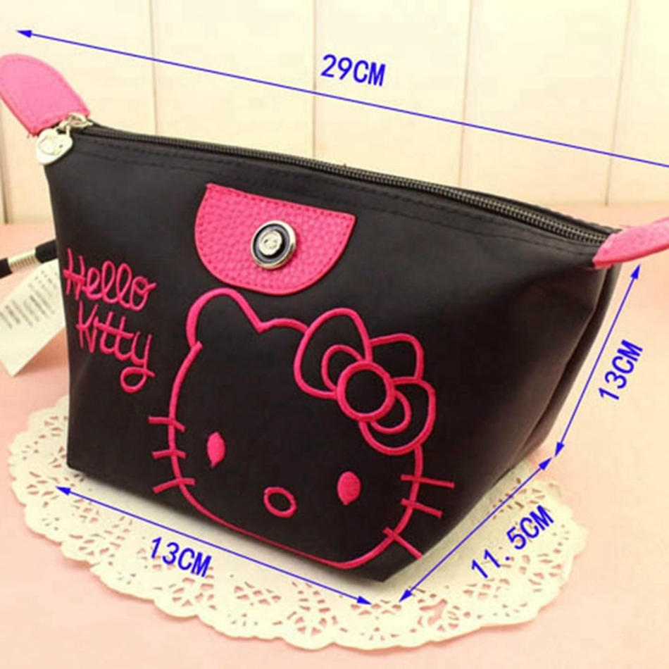 1b565f0096df Cartoon Hello Kitty Cosmetic Bag Women Travel Zipper Makeup Case Organizer  Storage Pouch Toiletry Make Up Beauty Wash Kit Bags-in Cosmetic Bags    Cases from ...