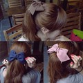 Girl Solid Cloth Bows Hairpins Women Big Hair Clips