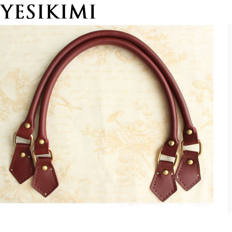 YESIKIMI Genuine Leather Bag Handles 55*1.5cm Short Strap DIY Bag Belt Replacement Bag Accessories For Luxury Bag Good Quality