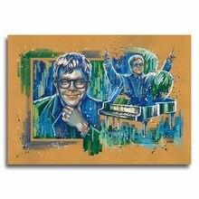 Pintura artística para hombres Elton John, gafas de sonrisa, arte de pintura abstracta, pósteres Vintage, fotos, decoración del hogar, Envío Gratis