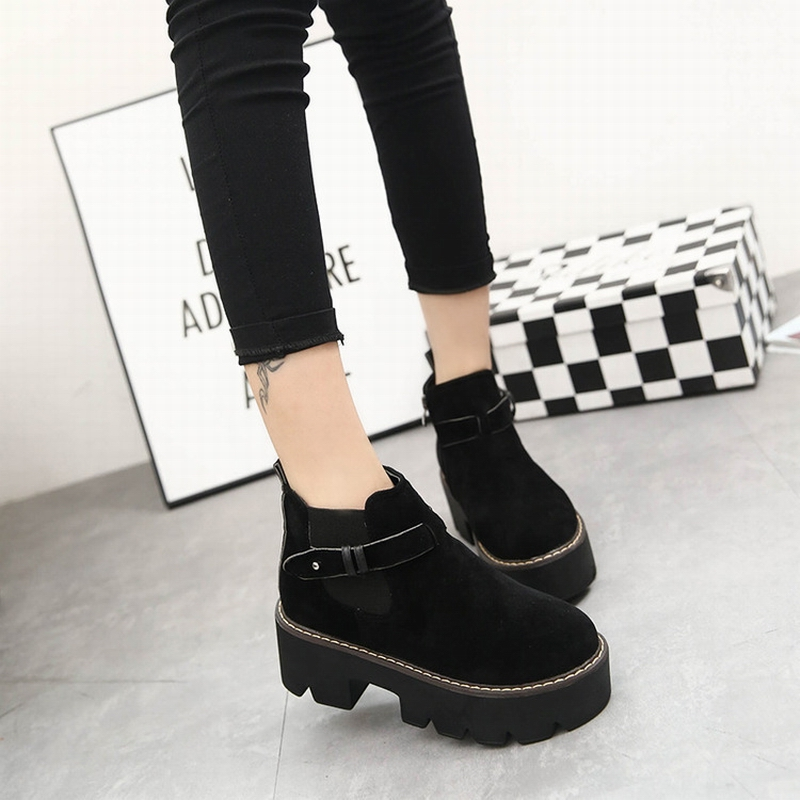 ФОТО Vintage Girls Retro Shoes Women Ankle Boots,Classic Round Toe Ladies Walking Street Shoes,Fashion New Arrival 2017 Mujer Zapatos