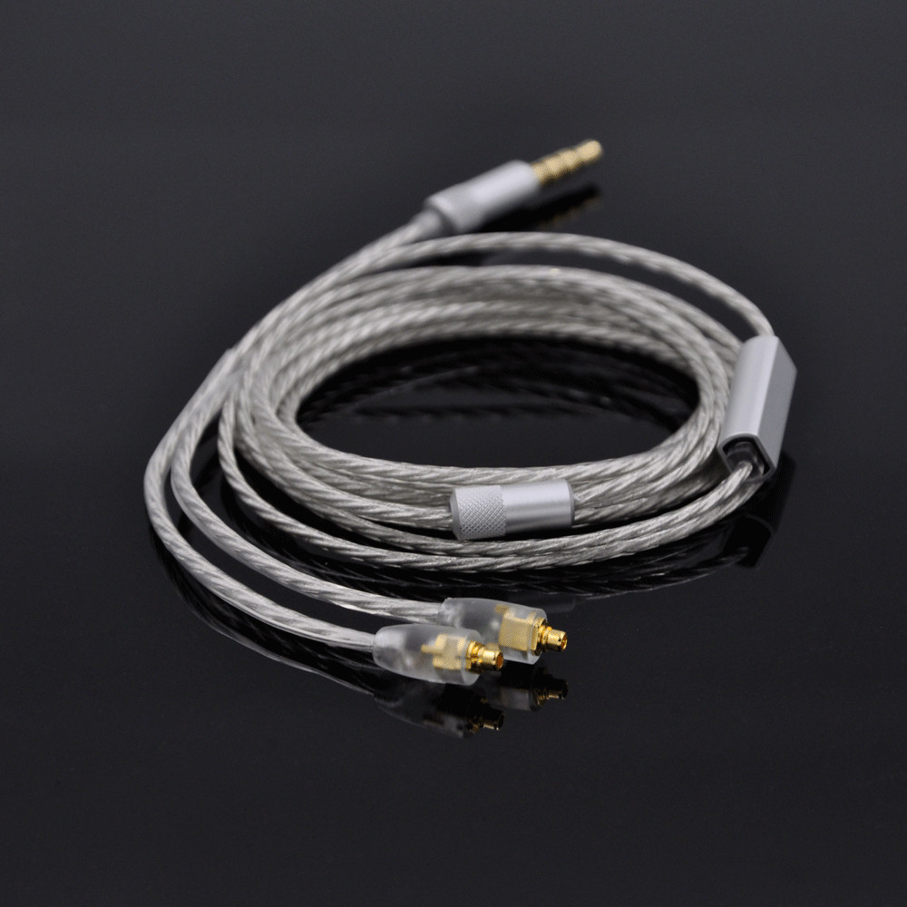 AK Upgrade Silver Plated Earphone Cable For Shure SE215 SE315 SE425 SE535 SE846,UE900 Replace Wire MMCX Connector 800 wires soft silver occ alloy teflo aft earphone cable for shure se215 se315 se425 se535 se846 ln005408