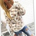 Новая Мода 2016 Женщин Весна Осень Зима С Длинным Рукавом Пуловер Куртка Свитер Пальто С Капюшоном Перемычки Топы A348
