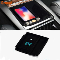 Mobile phone wireless charging in the middle of store content box Car Accessories For tesla Model x Model s 2016 2017 2018