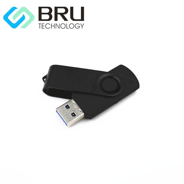 USB3.0 Flash Drive 64 GB Pendrive Hign Velocidade Clip Giratório de Plástico Presente Personalizado USB Stick OEM Disco Laser Grava Imagem de Impressão logotipo