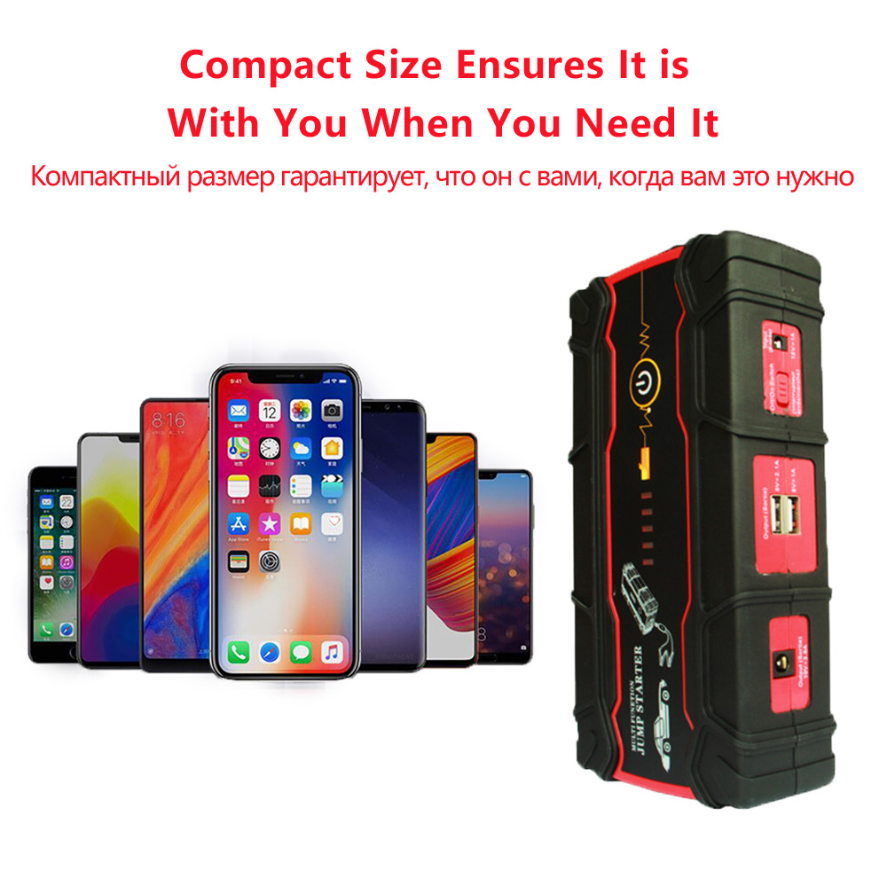 2018 High Capacity 18000mAh Jump Starter 800A Power Bank 12V Charger for Car Battery Booster Buster emergency Starting Device цена