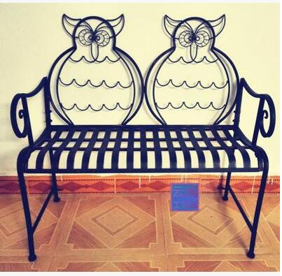 European style double single owl chair. Iron arts desk chair. Bar chair. Table. Dining chair real wood bar chair european bar chair iron art chair rotate the front chair