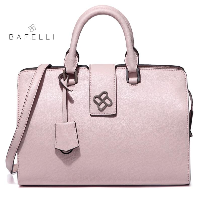 Bafelli Split Leather Doctor Handbags Zipper Hasp Dress Womens Shoulder Bag Box Black Briefcase Bolsa Feminina Women Handbag In Bags From Luggage