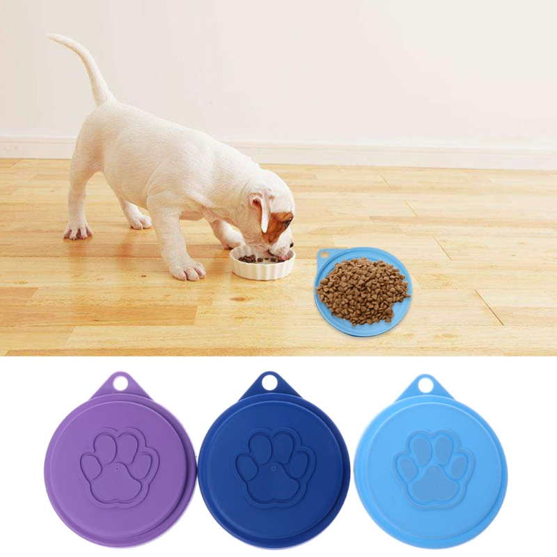 NEW Dog Storage Top Cap Food Can Tin Cover Lid Pet Cat Puppy Food Can Reusable