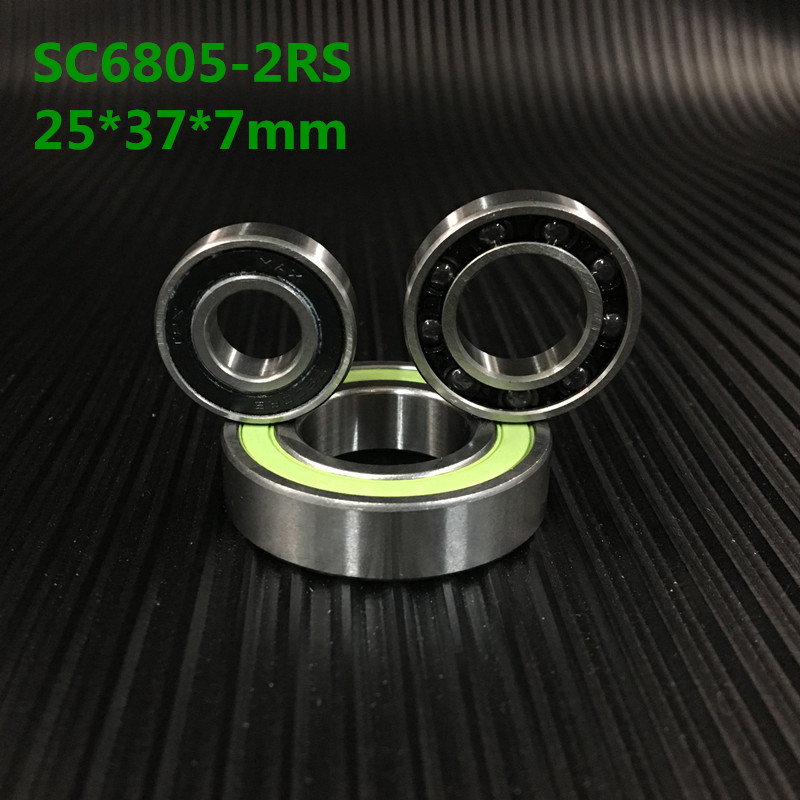 Axle Bearing Repair Parts Stainless Steel Ceramic Bearing Sc6805-2rs 25*37*7 Mm Bicycle Bottom Brackets & Spares 6805rs Bearings bicycle wheel bearing repair parts 16287 2rs 61902 16 2rs 16 28 7 mm