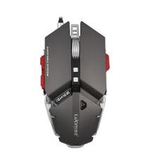Profesional 4000 DPI Ajustable Óptico Mecánico Programable de 10 Botones Gaming Mouse USB Con Cable Ratones Juego Competitivo Del Ratón