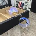 Anti mulheres Vidros Ópticos Quadro óculos de jogos Laser Azul óculos de lente clara do vintage óculos oculos de grau de Miopia Glasse
