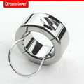 270g(9.5oz) Weights Testicle Balls Scrotum Pendant, Stainless Steel Ball Stretchers Cock Ring Locking Real Men CBT Sex Product