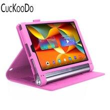 Para lenovo yoga tab 3 plus, cuero superior de la pu case todopoderoso el soporte protector case para lenovo yoga tab 3 pro 10.1 pulgadas Tablet
