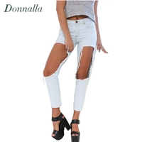 Hole Jeans Women Boyfriend Style Ripped Jeans For Women Pants Denim Trousers Summer Style High Street