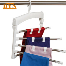 DQ 1523 1 BYN Indoor Stainless Steel Multi functional Extra Plastic Pant Hanger Tie Trousers font