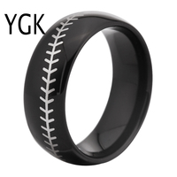 Free Shipping USA UK Canada Russia Brazil Hot Sales 8MM Black Dome Baseball Stitch Comfort Men