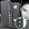 S6 Край Плюс Роскошные Ультра Тонкий Смарт Сна Услуга Окошком чехол Для Samsung Galaxy S6 Edge Plus G928 Бумажник Кожа Флип случае
