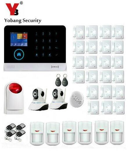 YoBang Security Wireless Smart Home Safety Phone WIFI 3G GPRS Alarm System APP Remote Co ...