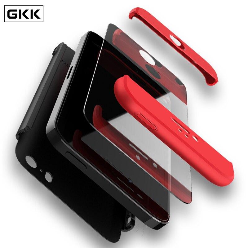 GKK Fall für iPhone 5 5 s SE Fall 360 Grad Full Protection Hard PC 3 in 1 Matte Abdeckung für iPhone 6 6 s iphone 7 8 Plus X Fundas