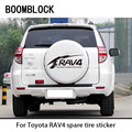 Автомобильный Стайлинг BOOMBLOCK, запасной стикер для украшения колес автомобиля, аксессуары для Toyota RAV4
