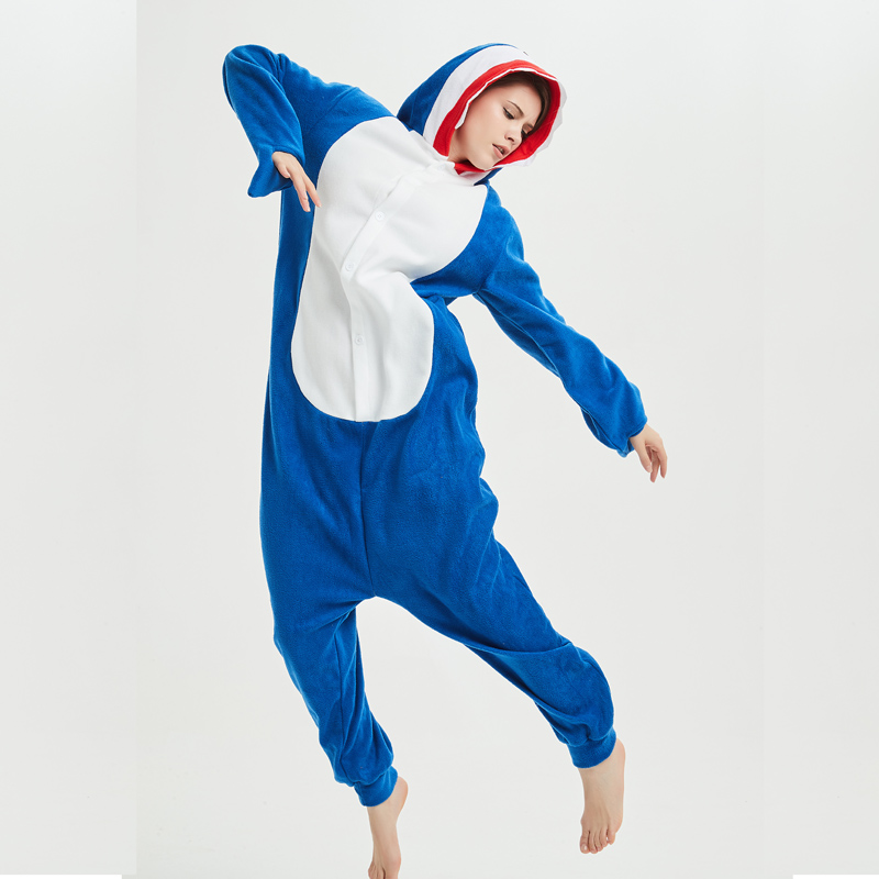 navy shark kigurumi for adult