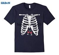 GILDAN Squelette Chemise par Halloween TS Adultes Vin Amant Costume