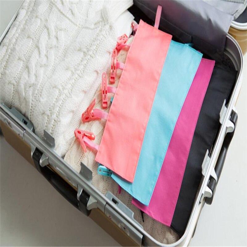 2018 новые творческие Портативный носки сухой тканью подвеска стойка ткань резак Бизнес путешествия Портативный складной ткань вешалка клип...
