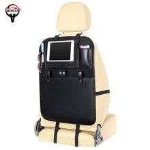 Бесплатная доставка USB автокресло сумка для хранения сумка на спинку кресла Организатор сиденья автомобиля покрытие для интерьера сиденья