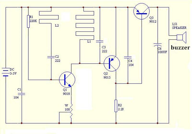 Elektronika DIY Kits Metal Detector Scanner Unassembled Kit Electroniqu Project 3-5V Suite Trousse Board Module Electronic Part