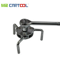 1pc 45 # steel Auto Car Repair Tools Adjustable Two Way Oil Filter Wrench Tool with 3 Jaw Remover Tool for Cars Trucks 69 136mm