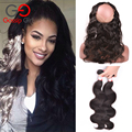 Gossip Girl 360 Lace Frontal With Bundle Pre Plucked Brazilian Body Wave With Closure 360 Frontal With Bundles Human Hair Weaves