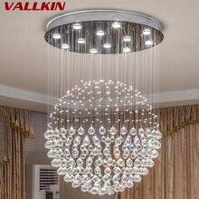Современный K9 большой светодиодный светильник для гостиной, хрустальные люстры, осветительный прибор для круглого внутреннего светильника, витрина для спальни, Холла отеля