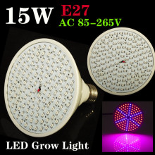 E27 15W 90Red:36Blue 126SMD LED Grow Light for Flowering Plant and Hydroponics System 110V/220V Free Shipping