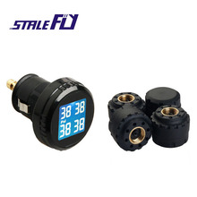 TPMS Automobile Wi-fi Tire Strain Monitoring System + four Mini Sensors Cigarette Tyre Strain Monitoring F35