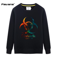 Flevans Resident Evil Umbrella Printed T Shirts Long Sleeve Men S Loose Cotton O Neck Sweatshirts