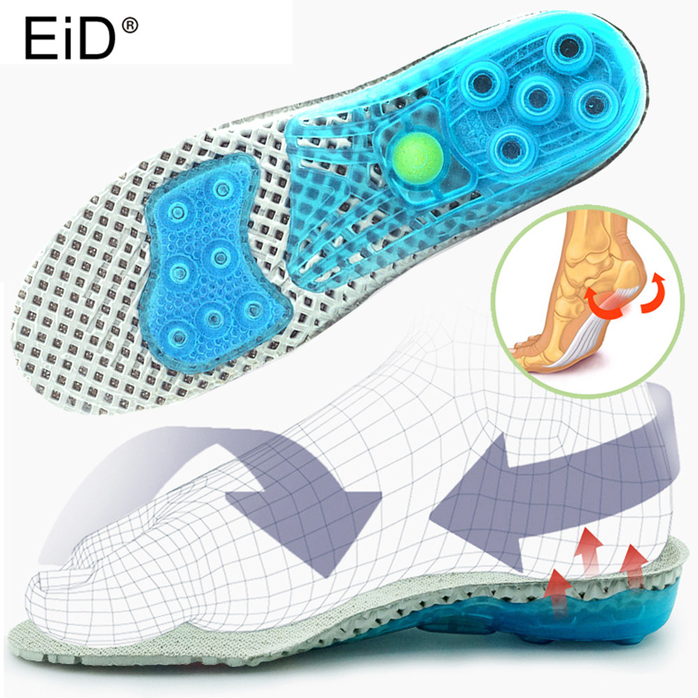 EVA Premium Orthotic Gel Spring High Arch Support Insoles Gel Heel Pad Cushion, 3D Arch Support For Flat Foot Plantar Fasciitis