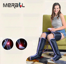 1 Set Air Compression Leg Massager Electric Circulation Leg Wraps For Body Foot Ankles Calf Therapy Foot Massager Device hanriver 2018 220 v heating old leg massager crus hot compress foot massager automatic air wave pressure therapy