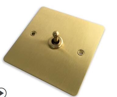 86 Hotel Loft Style Brass Wire Drawing Panel Wall Switch Panel Metal Dial Rod Retro Switch Socket