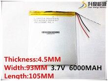 3.7 V, 6000 mAH, 4593105 Original Lg batería de polímero de iones de litio; SmartQ T20, VI40, AMPE A86 Dual Core Tablet PC P85